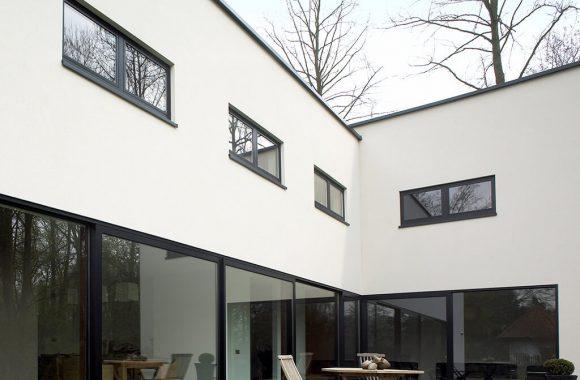 Aluminium flush sash windows
