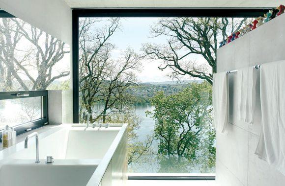 Contemporary aluminium window interior