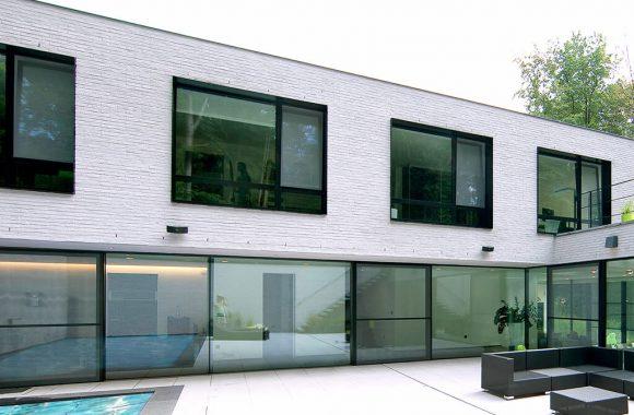 Grey aluminium windows