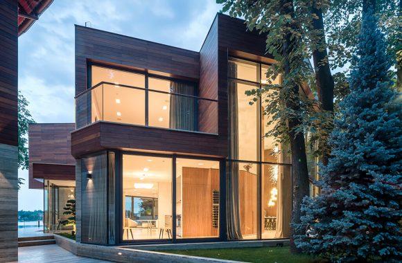Modern grey aluminium windows