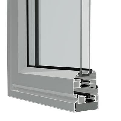 Chamfered Aluminium Doors