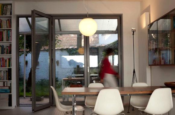 Grey bifold door interior