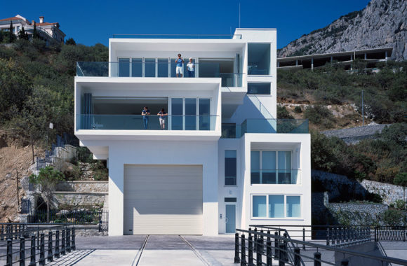 White contemporary bifold doors