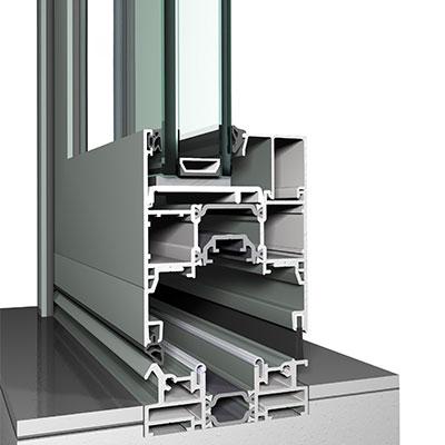 Bifold Door Profile with Low Threshold