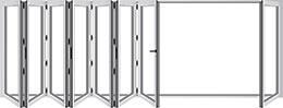 Evoke Bifold Door Configuration