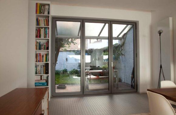 Evoke Bifold Doors in Grey Aluminium by Evoke