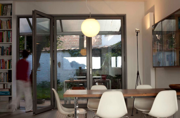 Evoke Bifold Doors Grey Residential