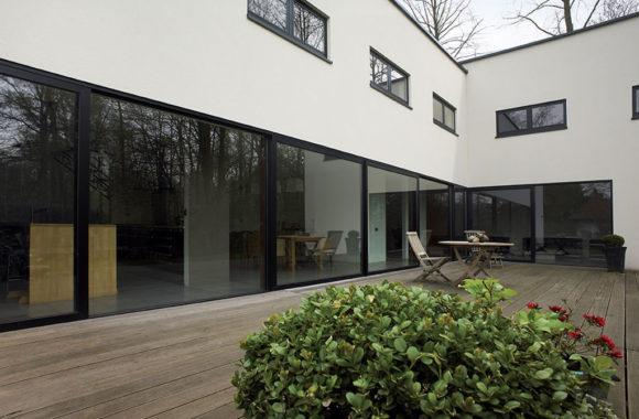 Black Lift & Slide Doors with Double Glazing