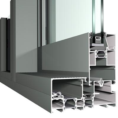 Double Weather Sealed Lift and Slide Aluminium Door Profile