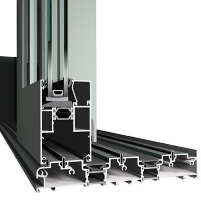 Low Threshold Lift and Slide Aluminium Door Profile