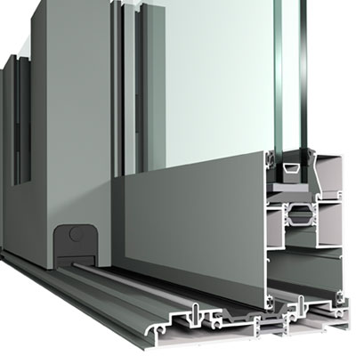 Flat Bottom Lift and Slide Aluminium Door Profile