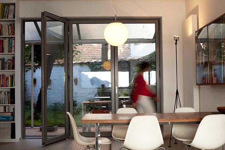 Interior Shot of Bifold Doors by Evoke